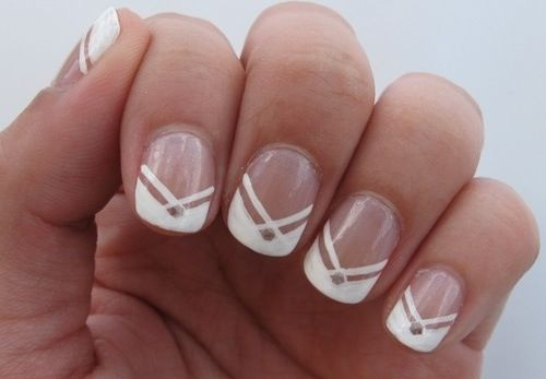 Classic doesn't have to be boring! Spice it up with additional patterns or a decal in the center of the nail!