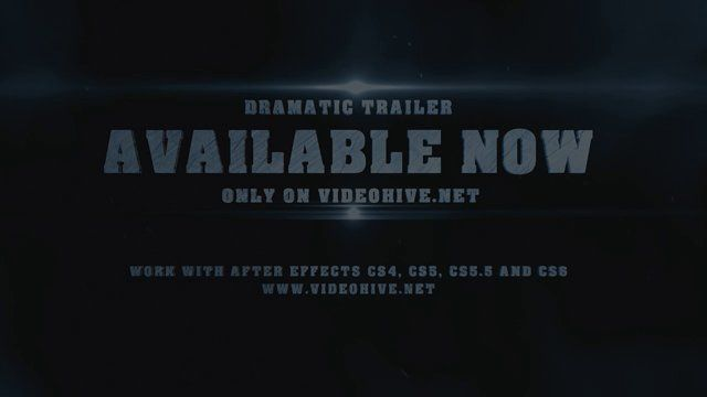 Project available here : http://videohive.net/item/dramatic-epic-trailer/8350161