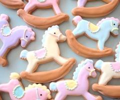 rocking horse cookie