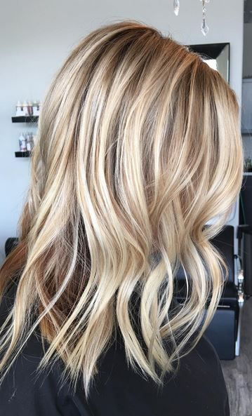 beige and honey blonde highlights. Love it!
