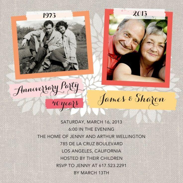 Blooming Linen Anniversary Invitations Hello