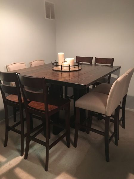 square bar height dining table dark brown wood jamesjames custom bar height table is 55