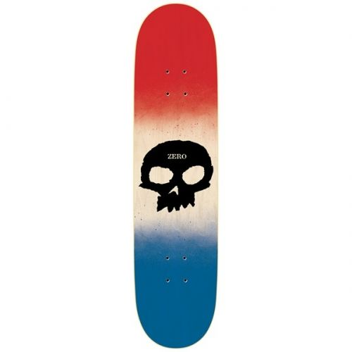 Zero Skateboards Zero Team Single Skull R7 Deck Red/Bone/Blue 8x31.6