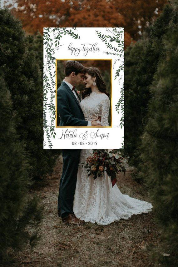 Greenery Wedding Photo Booth Frame Wedding Photo Prop Wedding Etsy Wedding Photo Booth Wedding Photo Props Framed Wedding Photos