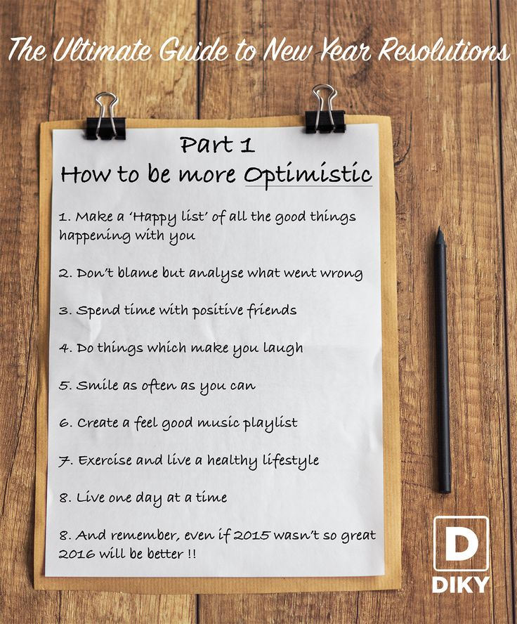 """Optimism - Living with the philosophy of """"Everything is gonna be alright, maybe not today, but eventually"""" Here are 8 simple things you could try, to be more optimistic in 2016 Give DIKY a go to know if your friends think you are an optimist CLICK TWICE"""
