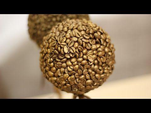 Кофейку? Как быстро обклеить топиарий кофейными зернами | oblacco