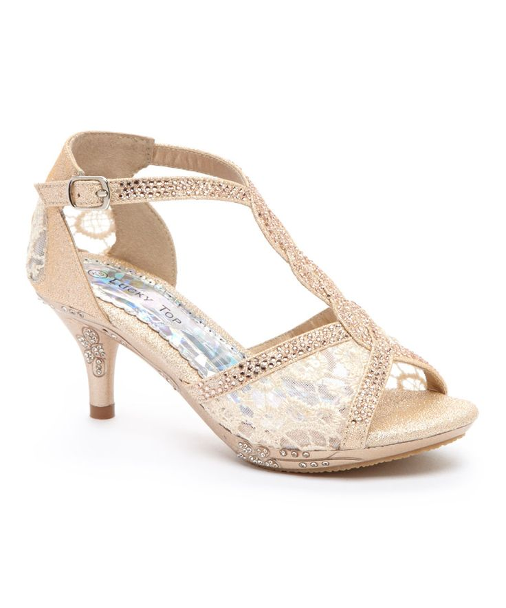 Look at this Lucky Top Champagne Sequin Mix Sandal on #zulily today!