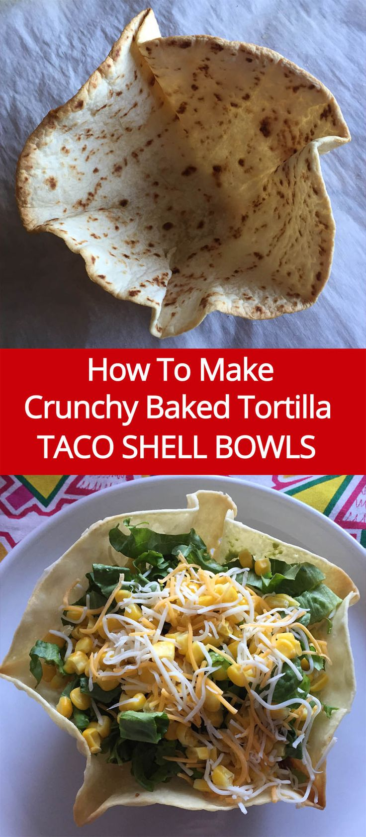 Taco Shell Bowls Recipe For Taco Salad | MelanieCooks.com