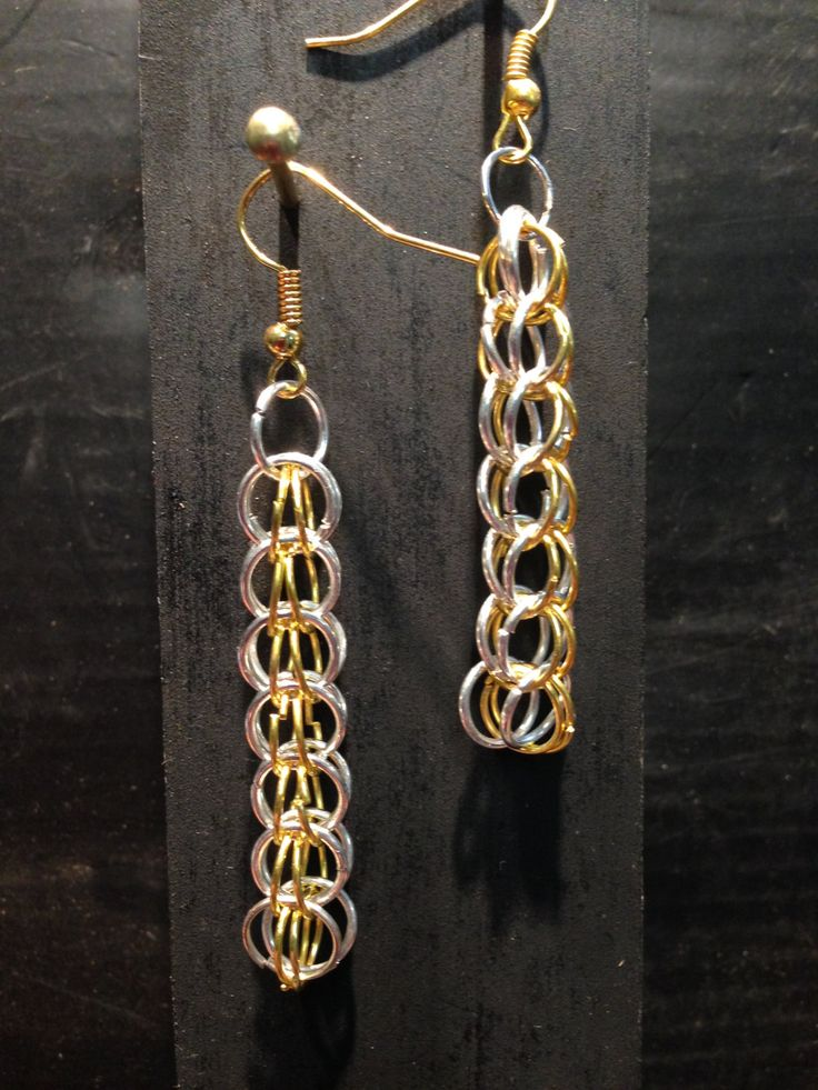 A personal favourite from my Etsy shop https://www.etsy.com/listing/231170078/earrings-jump-rings-byzantine-chain