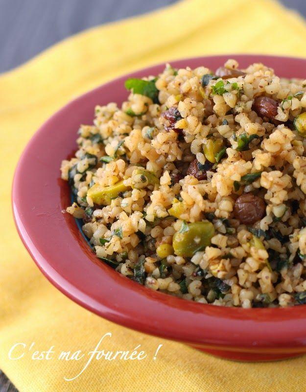 C'est ma fournée !: La salade de boulgour aux raisins secs et aux pistaches d'Ottolenghi