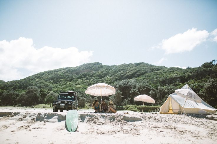 Our set up on the beach was epic. The sun beat down on our tent and there wasn't another person in sight.