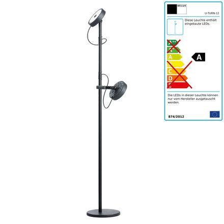 Belux - U-Turn Steh-Leseleuchte, LED Dimmbar, schwarz Schwarz T:23 H:133 B:23 Jetzt bestellen unter: http://www.woonio.de/produkt/belux-u-turn-steh-leseleuchte-led-dimmbar-schwarz-schwarz-t23-h133-b23/