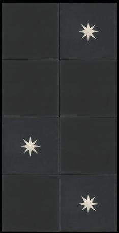 Simple understated black tiles - love the minimalist look