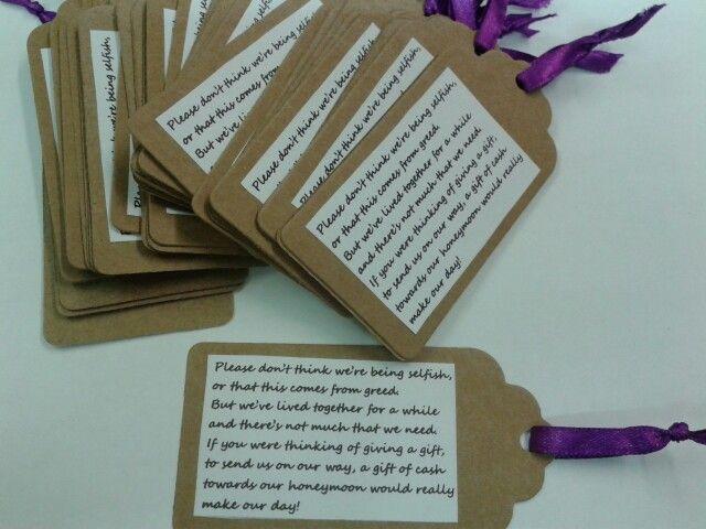 Giving Cash As A Wedding Gift: Best 25+ Wedding Gift Poem Ideas On Pinterest