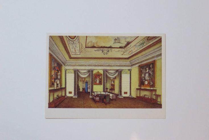 Russian vintage postcard. Pushkin. Art Illustration. Russian painting Soviet vintage Russian art Russian poet Russian literature. Watercolor