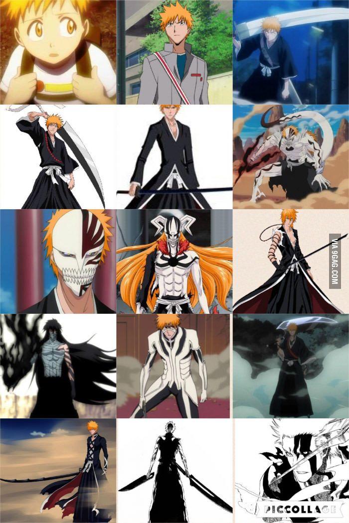 Different Forms of Ichigo Kurosaki Bleach anime, Bleach