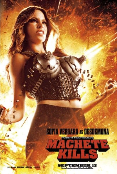 Check Our Sofia Vergara's Big Guns - IMP Awards have posted a new titillating poster of the super-sexy Sofia Vergara showing off her big guns in more ways than one in Machete Kills. This new image is right in line with the franchises sex and violence tone and also reminds me of Rose McGowans character in...