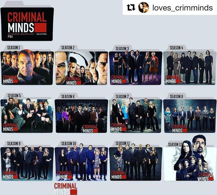 Love this! Seasons 1-12 of CRIMINAL MINDS (Creds to @loves_crimminds) . . . #criminalminds #fbi #bau #behaviouralanalysisunit #quantico