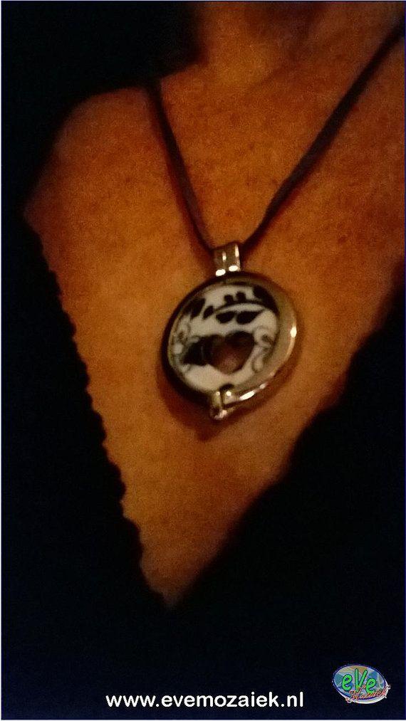 Smithereens Jewelry  Delfts Blue van eVeMozaiek op Etsy