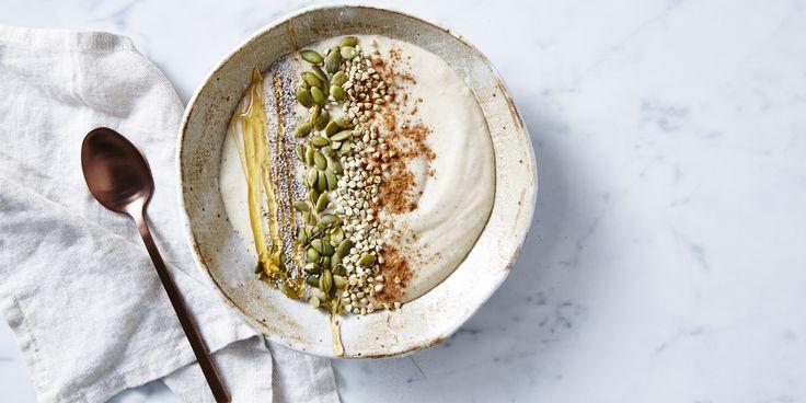 Salted Caramel Smoothie Bowl via @iquitsugar