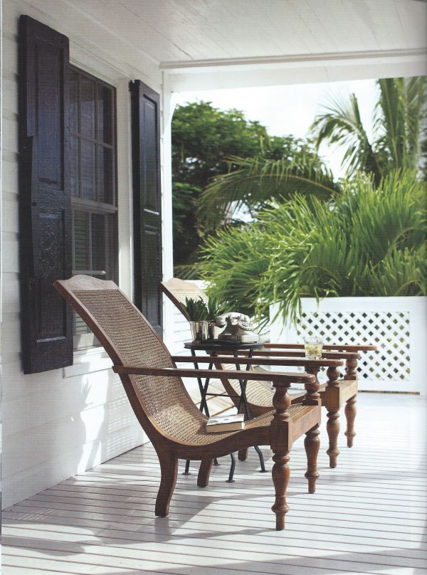 West Indies style planters chairs