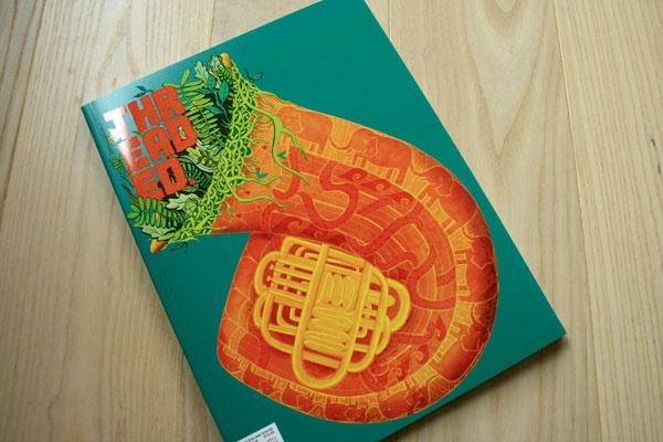 Threaded Magazine Cover by Jessica Fortner