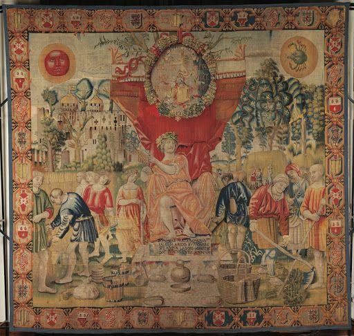 June Vigevano manufacture. Tapestry maker Benedetto da
