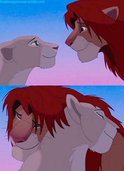 the lion king <3. nahla and simba.