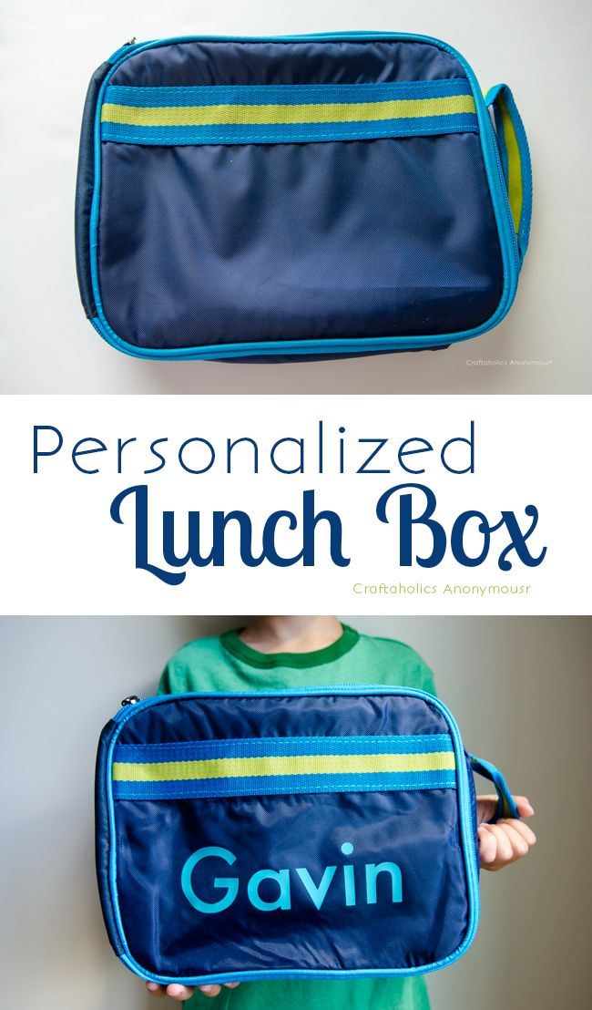 Craftaholics Anonymous® | Personalized Lunch Box with your Silhouette & Heat Transfer