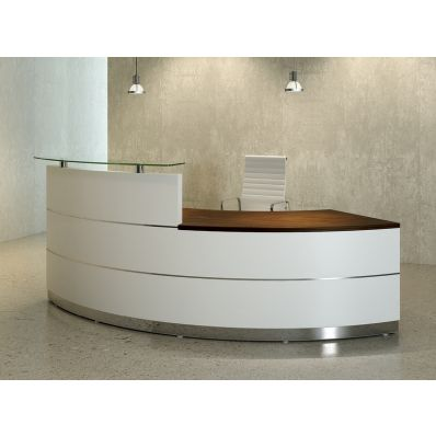 modern reception desk set nobel office. scene curved reception desk 4 front modern set nobel office