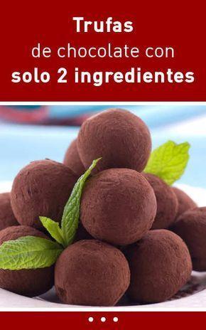 Trufas de chocolate con solo 2 ingredientes
