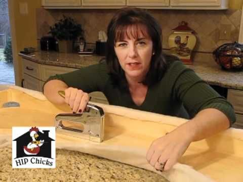 ▶ How to Cover a Cornice Board w/ Fabric - HIP Chicks part 2 - YouTube