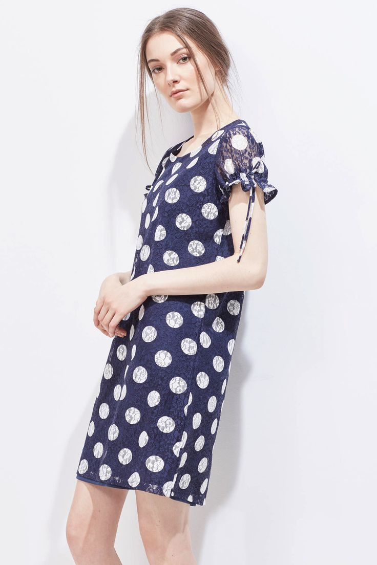 Lace print dress   Dresses   Cortefiel Man & Woman