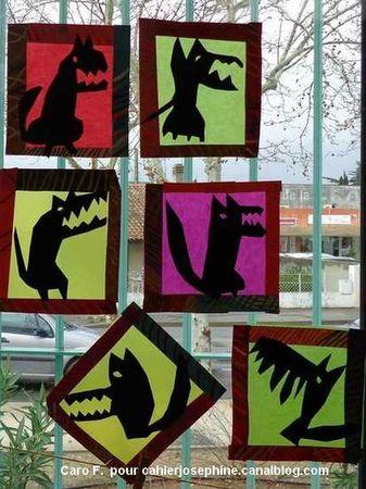 Wolf en de zeven geitjes EN Roodkapje:  maak verschillende boze wolven.