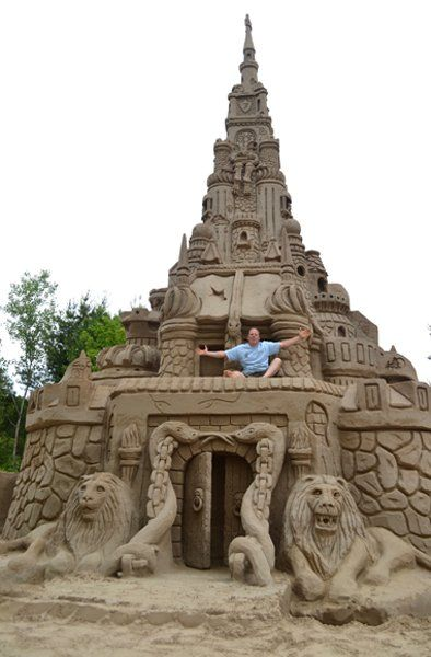 World's Tallest Sand Castle ~ Built 2003, in Connecticut, USA ~ By...Ed Jarrett.