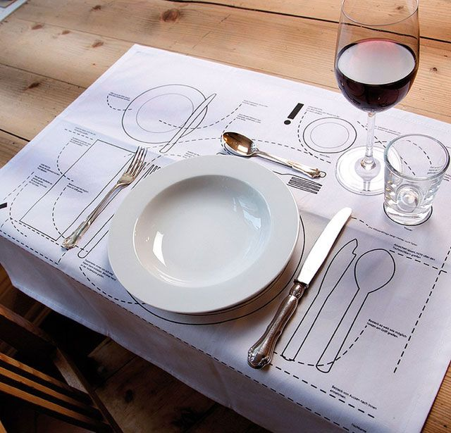 14 sweet and creative table placemats for your kitchen - Blog of Francesco Mugnai