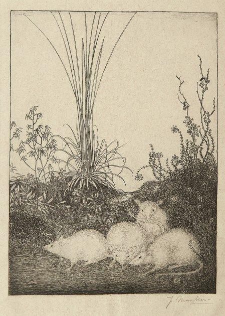 jan mankes | Jan Mankes (Meppel 1889-1920 Eerbeek) Vier muizen - Kunsthandel ...