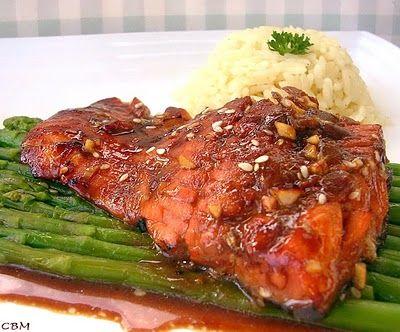 Dans la cuisine de Blanc-manger: Filet de truite saumonée ginger glacé