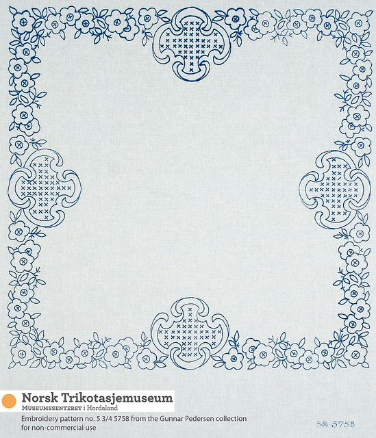 Placemat/tablecloth I by Norsk Trikotasjemuseum, via Flickr