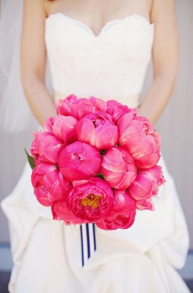 Pfingstrose pink Blumenstrauß für Braut-Schmuck glamourös