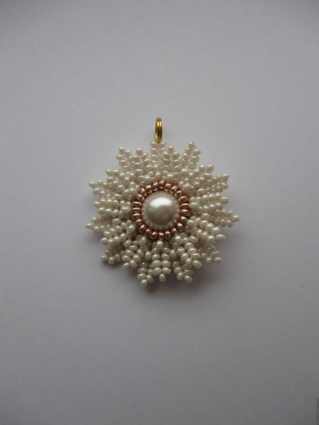 Pendant or earrings - step-by-step with good pictures but translate.  #Seed #Bead #Tutorials