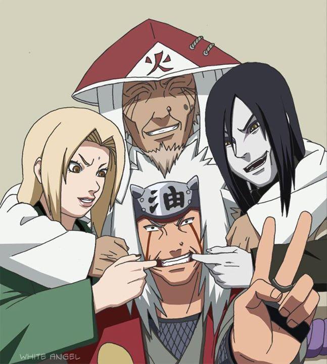 I love this team.. Jiraiya, Tsunade, Orochimau, and Hiruzen-sensei.. ❤