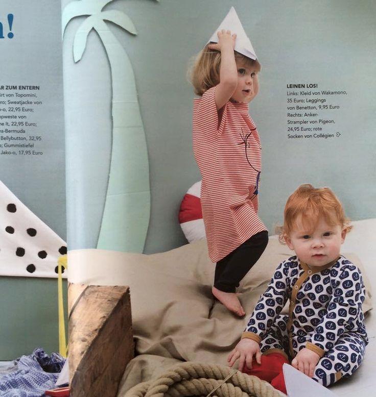 #wakamono SS15 CARLA dress featured in Eltern Magazine .. available @ https://waka-mono.com/en/product/844/carla-dress/