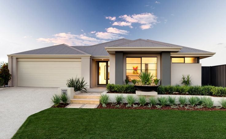 Front Elevation Landscape Ideas : The miranda stylish rendered facade with feature planter