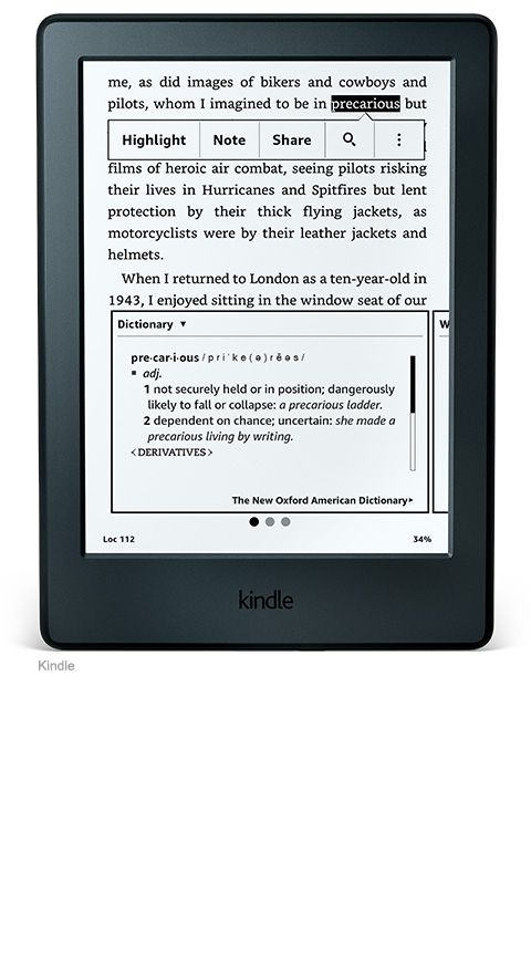 Kindle for people who like to read