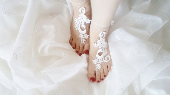 Bridesmaids beach shoes Ivory bridesmaid shoes by BloomedFlower, $19.00