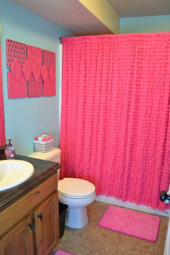 Custom Shower Curtain With Rod Pocket 72x88 Inches, Hot Pink Or Your Choice  Of Color