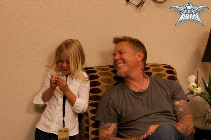 James Hetfield his oldest daughter,  Cali Hetfield - A precious father & daughter moment.