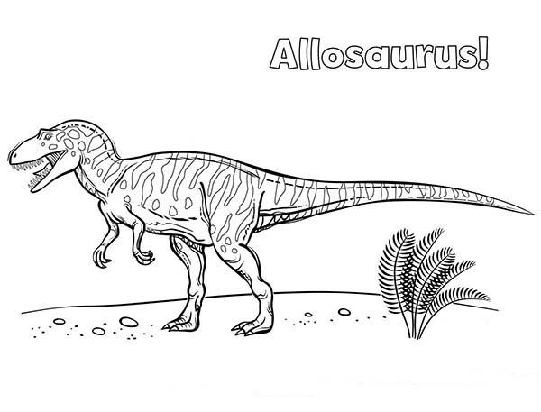Allosaurus Allosaurus Wander Around Coloring Page Coloring Pages Color Online Coloring