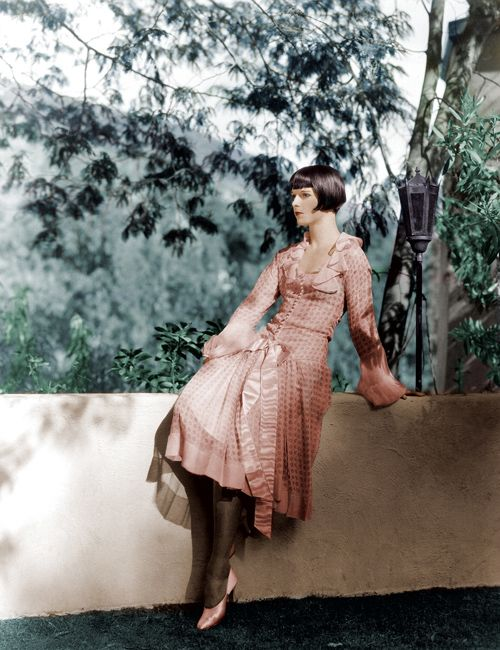 1920s, louise brooks in color